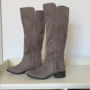 Merona Shoes - Size 6 Gray Suede Riding Boots